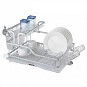 https://www.himelshop.com/2 Layer Aluminium Kitchen Dish Rack