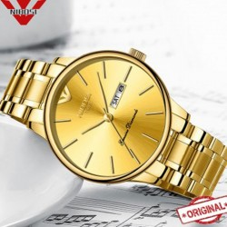https://www.himelshop.com/NIBOSI Men's Watches Gold Stainless Steel