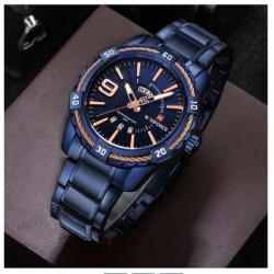 https://www.himelshop.com/BIDEN Blue Stainless Steel Men Wrist Watch