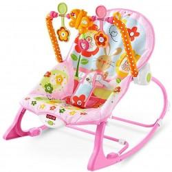 https://www.himelshop.com/Baby Bouncer Musical Swing Chair Rocking Chair Toddler Rocker -Pink