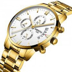 https://www.himelshop.com/NIBOSI Mens Chronograph Quartz Wristwatch Golden