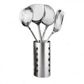 https://www.himelshop.com/4pcs Spoon set with Holder - Silver