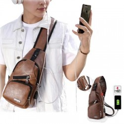 https://www.himelshop.com/Artificial Leather Backpack with USB Cable