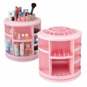 https://www.himelshop.com/Cosmake Carousel Cosmetic Storage Box 360 Degree Rotation Makeup Organizer - Pink