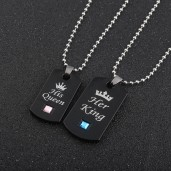 https://www.himelshop.com/His Queen Her King Couple Necklace