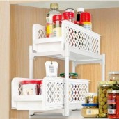 https://www.himelshop.com/Portable 2 Tier Sliding Basket Drawers Under Sink Bathroom Kitchen Storage