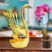 https://www.himelshop.com/Spoon Set With Swan Stand