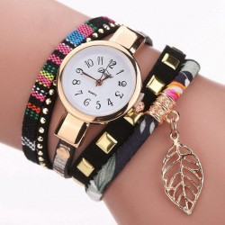 https://www.himelshop.com/Ladies Bracelet Watch Leaf Fabric Retro Style Quartz Watche DUOYA