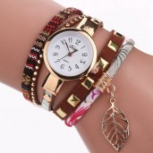 https://www.himelshop.com/Duoya Brand Fashion Leather Bracelet Watch Women Quartz Watch