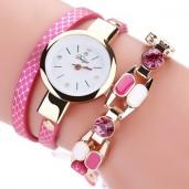 https://www.himelshop.com/Fashion Women Bracelet Watch Leather belt with Waterproofed- Duoya
